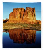 Pothole Reflections - Arches National Park Fleece Blanket