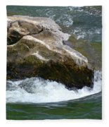 Potomac River Rapids Fleece Blanket