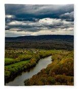 Potomac River Valley - West Virginia Fleece Blanket