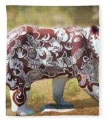 Pottery Bear Fleece Blanket