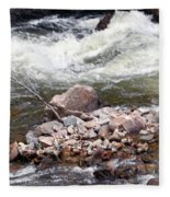 Poudre River 5 Fleece Blanket
