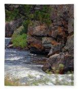 Poudre River 6 Fleece Blanket