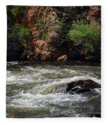 Poudre River 2 Fleece Blanket