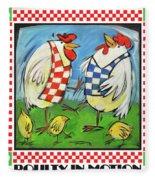 Poultry In Motion Poster Fleece Blanket