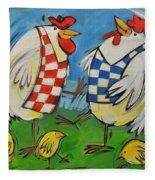 Poultry In Motion Fleece Blanket