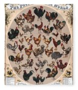 Poultry Of The World Poster Fleece Blanket