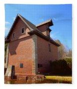 Poutrincourt's Mill Fleece Blanket
