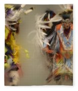 Pow Wow Beauty Of The Dance 1 Fleece Blanket