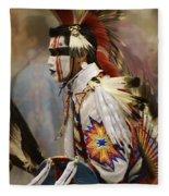 Pow Wow First Nation Dancer Fleece Blanket