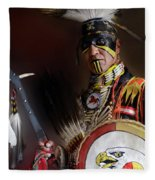 Pow Wow Portrait Of A Proud Man 2 Fleece Blanket