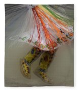 Pow Wow Shawl Dancer 4 Fleece Blanket