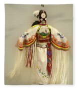 Pow Wow Traditional Dancer 3 Fleece Blanket