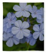 Powder Blue Flowers Fleece Blanket