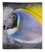 Powder Blue Tang No 01 Fleece Blanket