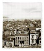 Powell Street Between Sacramento And California San Francisco Circa 1866 Fleece Blanket