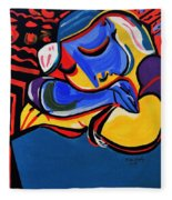Power Nap  Picasso By Nora Fleece Blanket