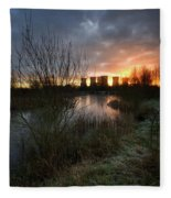 Power Plant Sunrise 1.0 Fleece Blanket