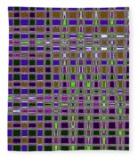 Power Tower And Agave Checkerboard Abstract Fleece Blanket