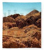 Power Transport From Hoover Dam Fleece Blanket
