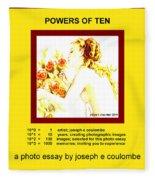 Powers Of Ten In Yellow Fleece Blanket