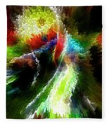 Powwow Dancer Abstract Fleece Blanket