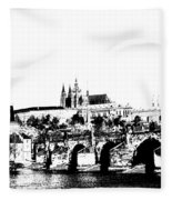 Prague Castle And Charles Bridge Fleece Blanket