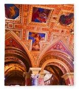 Prague Church Ceiling Fleece Blanket