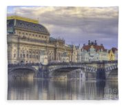 Prague, Czech Republic Fleece Blanket