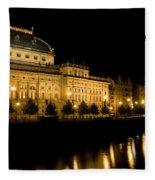 Prague National Theatre Fleece Blanket