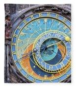 Prague Orloj Fleece Blanket