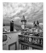 Prague View From The Top Fleece Blanket