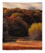 Prairie Autumn Stream Fleece Blanket