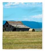 Prairie Barn Fleece Blanket