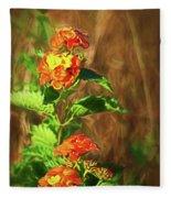 Prairie Flowers Fleece Blanket