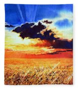 Prairie Gold Fleece Blanket