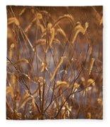 Prairie Grass Blades Fleece Blanket