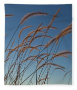Prairie Grass Landscape Fleece Blanket