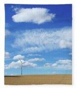 Prairie Landscape Alberta Canada Fleece Blanket