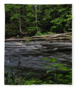 Prairie River Log Jam Fleece Blanket