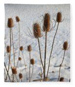 Prairie Seedheads Fleece Blanket