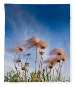 Prairie Smoke Fleece Blanket