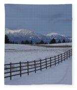 Prairie Snow Fleece Blanket