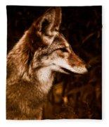 Prairie Wolf Portrait Fleece Blanket