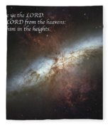 Praise Him From The Heavens Fleece Blanket