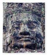 Prasat Bayon Stone Face  Fleece Blanket