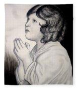 Prayer Is The Master-key Fleece Blanket