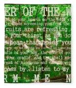 Prayer Of The Woods 2.0 Fleece Blanket