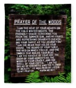Prayer Of The Woods Fleece Blanket