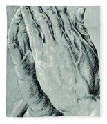 Praying Hands, Also Known As Study Of The Hands Of An Apostle  Fleece Blanket