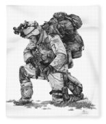 Praying Soldier Fleece Blanket